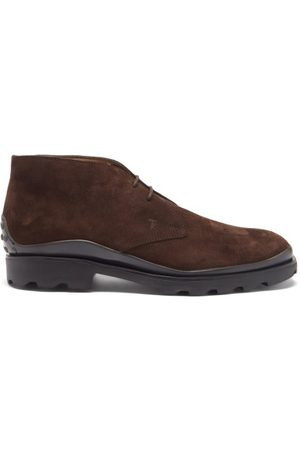 Tod's Men Lace-up Boots - Suede Desert Boots - Mens - Dark