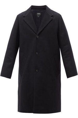 A.P.C. Men Coats - Robin Brushed Wool-blend Coat - Mens - Dark