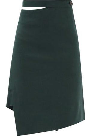 Vivienne Westwood Infinity Asymmetric Virgin Wool Skirt - Womens