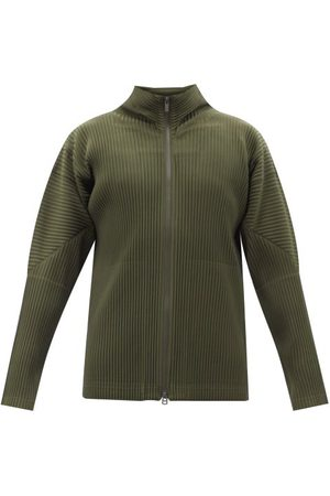 Homme Plissé Issey Miyake High-neck Technical-pleated Track Top - Mens