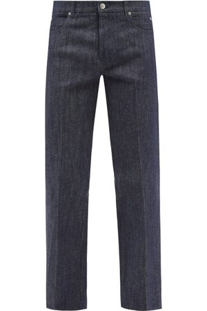 Le17septembre Homme Men Straight - Straight-leg Cotton-blend Denim Jeans - Mens - Indigo