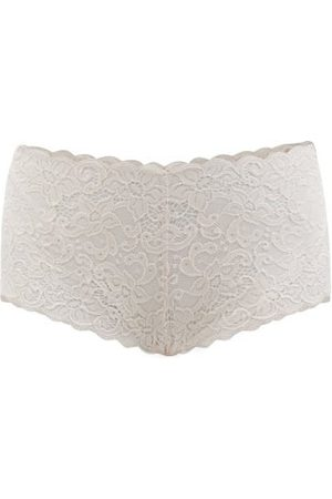 Hanro Moments Mid-rise Lace Briefs - Womens - Light