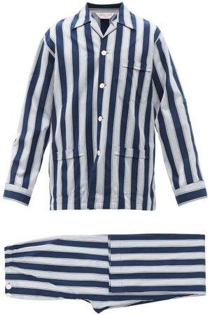 DEREK ROSE Men Sweats - Royal Striped Cotton Pyjamas - Mens - Multi