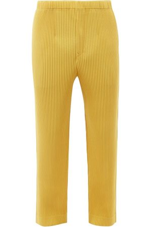 Homme Plissé Issey Miyake Men Pants - Technical-pleated Relaxed-leg Trousers - Mens
