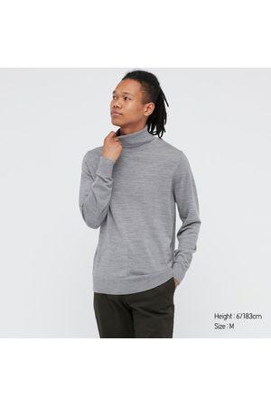 UNIQLO Men's Extra Fine Merino Turtleneck Long-Sleeve Sweater, , XS
