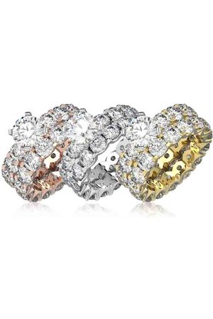 SuperJeweler 14K (10.8 g) 9 1/4 Carat Diamond Eternity Engagement Ring w/ Matching Band in White