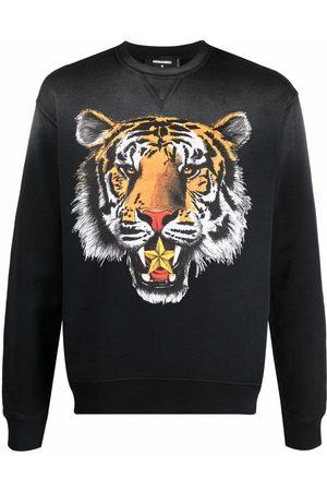 Dsquared2 Men Sweatshirts - Tiger-print sweatshirt