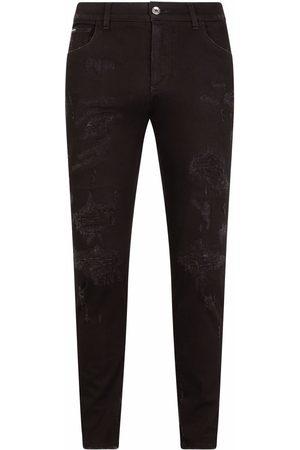 Dolce & Gabbana Men Straight - Logo-plaque denim jeans