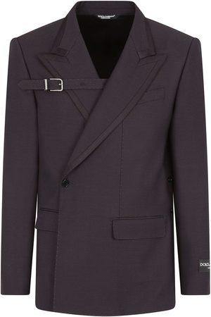 Dolce & Gabbana Men Blazers - Asymmetric virgin wool-blend blazer