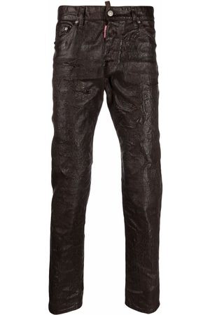 Dsquared2 Men Slim - Wrinkled-effect slim-fit jeans
