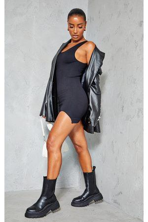PRETTYLITTLETHING Structured Contour Rib Sleeveless Bodycon Dress