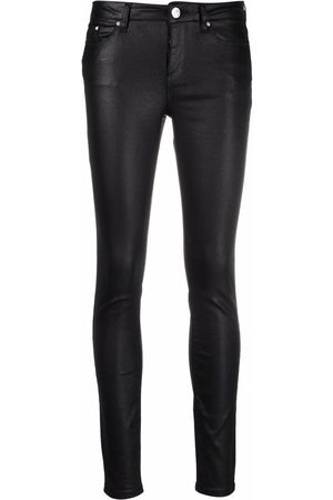 Karl Lagerfeld Coated-finish trousers