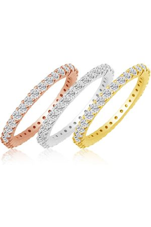 SuperJeweler Eternity Ring Size 7 2.70 Carat Diamond Eternity Ring in 14K White