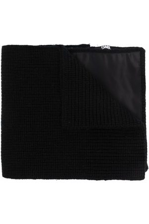 Karl Lagerfeld Knitted pocket-detail scarf
