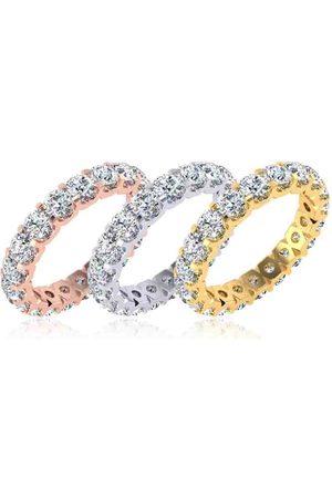 SuperJeweler Eternity Ring Size 7 2.70 Carat Diamond Comfort Fit Eternity Ring in 14K White