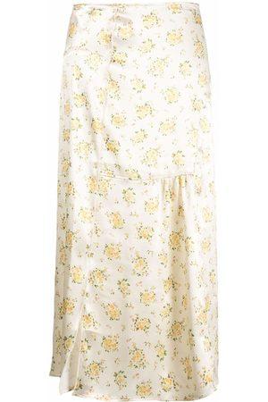 Acne Studios Floral-print straight skirt