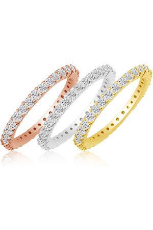 SuperJeweler Eternity Ring Size 7 2 Carat Round Diamond Eternity Ring in 14K White