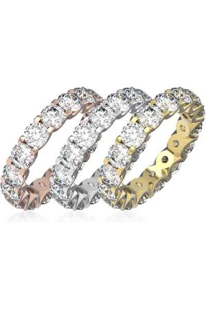 SuperJeweler Eternity Ring Size 7 4 Carat Diamond Eternity Ring in 14K White