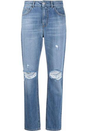 Pinko Women Skinny - Ripped-detail slim-fit jeans