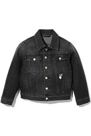 Off-White Kids Boys Denim Jackets - Arrows cotton denim jacket