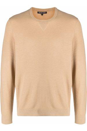 Michael Kors Elbow-patch crew neck sweatshirt - Neutrals