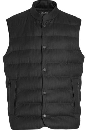 Z Zegna Wool quilted-front gilet