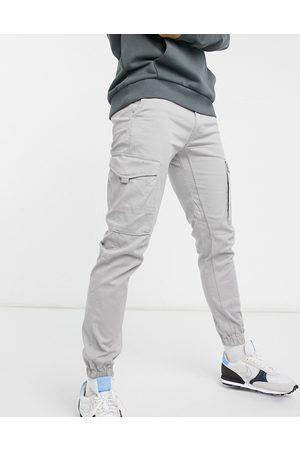 JACK & JONES Intelligence cargo pants in light organic cotton-Grey