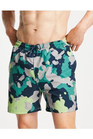 ASOS 4505 swim shorts with camo print-Multi