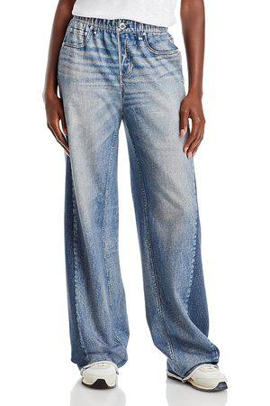 RAG&BONE Miramar Wide Leg Stretch Waist Jeans in Moonrise
