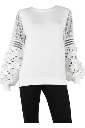 Sioni Women Sweaters - Lace Sleeve Sweater
