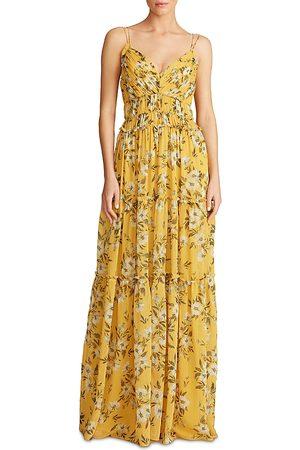 Ml Monique Lhuillier Women Printed Dresses - Floral Print Chiffon Dress