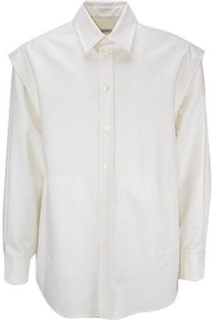 VALENTINO Men Long sleeves - Layered-Detail Long-Sleeve Shirt