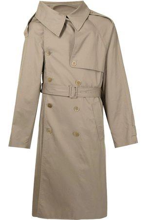 Balenciaga Women Trench Coats - Asymmetric-Lapels Trench Coat