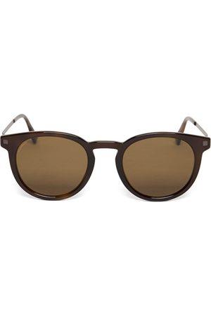 MYKITA Lahti Round Sunglasses Zanzibar Brown