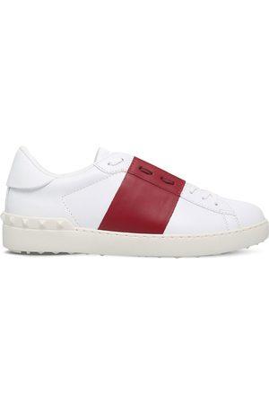 VALENTINO GARAVANI Open contrast-stripe leather trainers