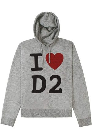 Dsquared2 I Love D2' Hoodie Grey