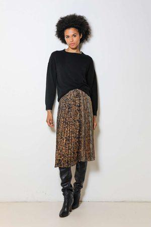 Dream Catcher Animal Print Pleated Skirt