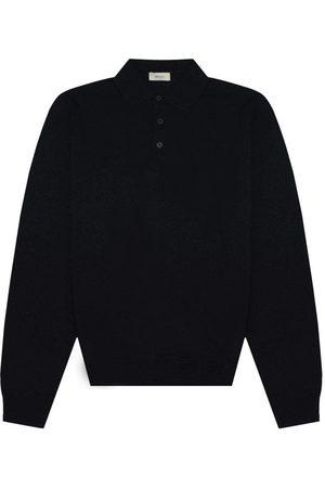 Z Zegna Mens Long-Sleeved Polo Shirt