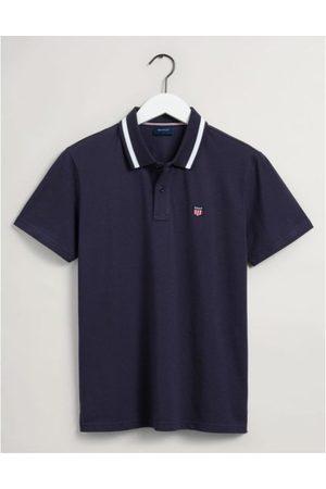Gant Retro Shield Pique Polo Shirt Colour: Evening