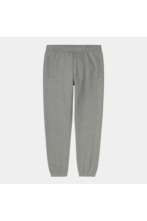 Carhartt WIP Chase Sweat Pant - Grey Heather / Gold