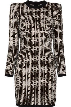 Balmain Robe courte motif monogramm