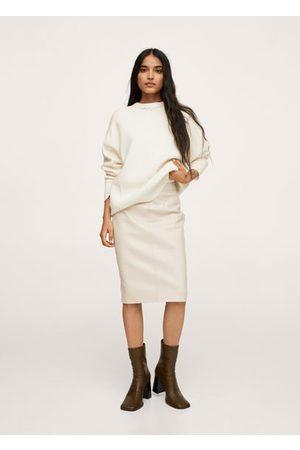 MANGO Women Pencil Skirts - Faux-leather pencil skirt