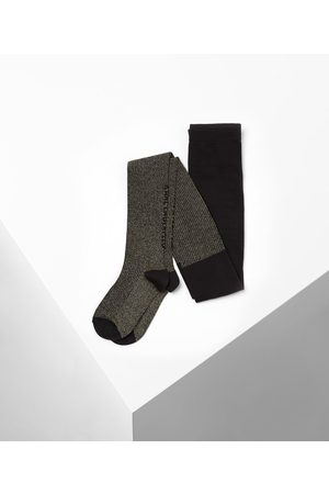 Karl Lagerfeld Girls Stockings - Kids Karl Metallic Logo Tights