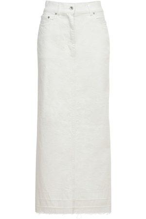 SACAI Women Maxi Skirts - Cotton Denim Long Skirt
