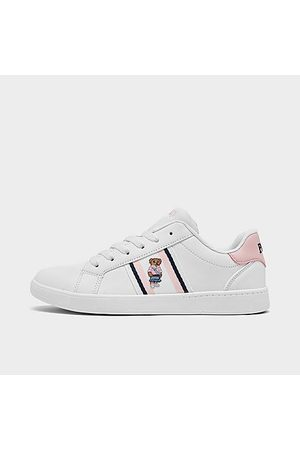 Polo Ralph Lauren Girls' Big Kids' Oaklynn Bear Faux-Leather Casual Shoes in / Size 4.0