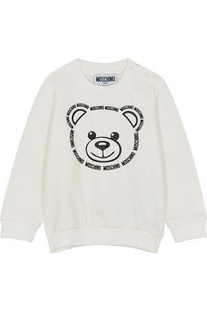Moschino Bear-print stretch-cotton sweatshirt