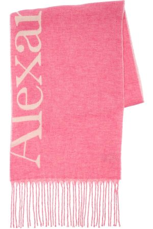 Alexander McQueen Women Scarves - Wool Blend Knit Cosy Giant Logo Scarf