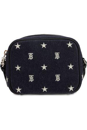 Burberry Girls Rucksacks - All Over Logo Cotton Shoulder Bag