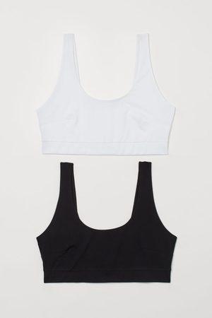 H&M + 2-pack bra tops