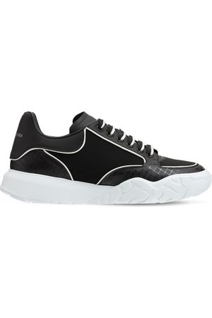 Alexander McQueen Tech & Leather Lace-up Sneakers